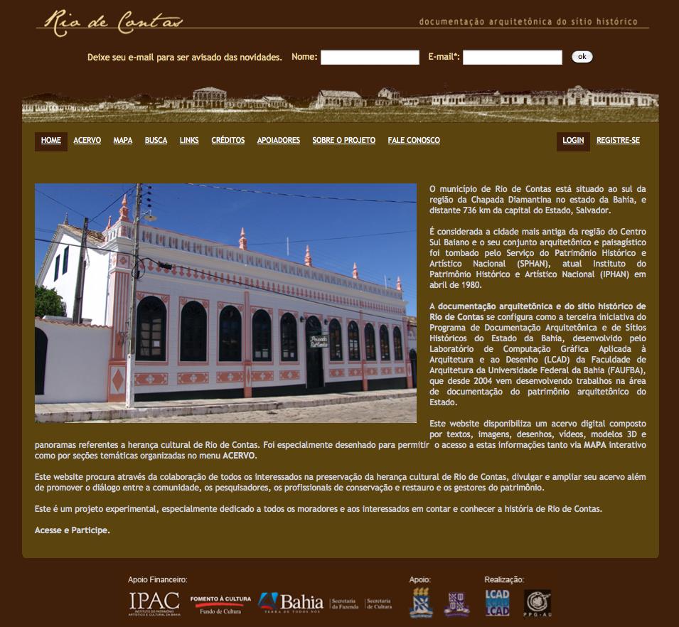 Documentación sitio arquitectónico e histórico Río de Contas