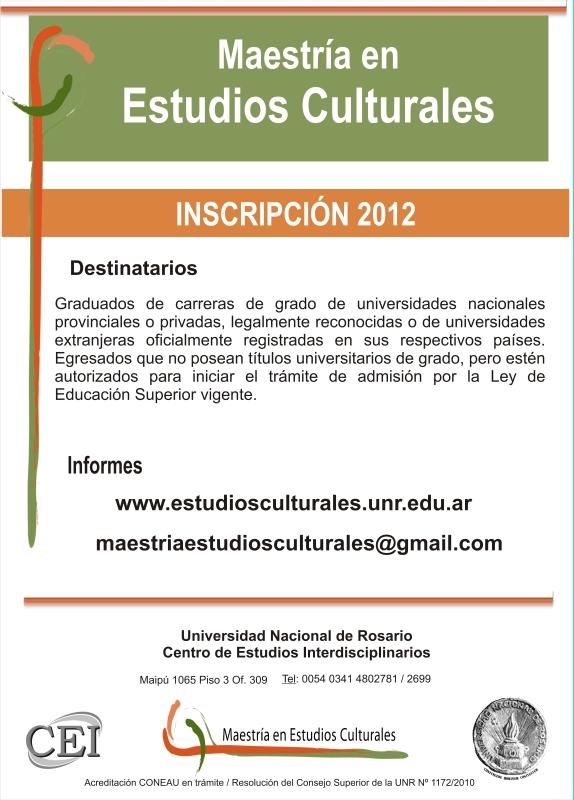 Maestría en Estudios Culturales